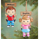 Personalized Kid On Swing Ornament Plain Girl, One Size