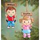 Personalized Kid On Swing Ornament Plain Boy, One Size