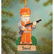 Personalized Hunter Ornament, One Size