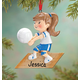 Personalized Volleyball Ornament, One Size