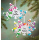 Personalized Colorful Snowmen Group Ornament, One Size