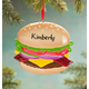 Personalized Cheeseburger Ornament, One Size