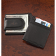 Personalized Black Leather Money Clip/Card Holder, One Size