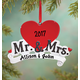 Personalized Mr. & Mrs. Ornament Personalized, One Size