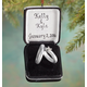 Personalized Wedding Ring Box Ornament, One Size