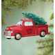 Personalized Red Truck With Tree Ornament, One Size
