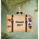 Personalized Suitcase Ornament Plain, One Size