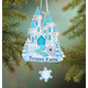 Personalized Blue Princess Castle Ornament Plain, One Size
