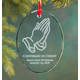 Personalized Glass Confirmation Ornament, One Size