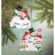 Personalized Snowman Family Ornament Personalized Family Of 3, One Size