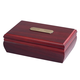 Personalized Jewelry Box With Brass Plate, One Size