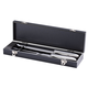 Personalized Carving Set In Black With Brushed Nickel Plate, One Size