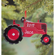 Personalized Tractor Ornament Plain, One Size