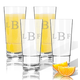 Personalized Acrylic High Ball Glass Set/4 W Times Monogram, One Size