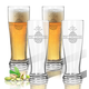 Personalized Acrylic Tall Pilsner Glass Set Of 4 W Pineapple, One Size