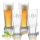 Personalized Acrylic Tall Pilsner Glass Set/4 Times Monogram, One Size