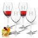 Personalized Acrylic Wine Glass Set Of 4 With Times Initial, One Size