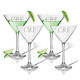 Personalized Martini Glass Set Of 4 With Times Monogram, One Size