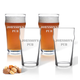 Personalized British Pint Glass Set Of 4 With Name, One Size