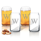 Personalized Beer Can Glass Set Of 4 With Times Initial, One Size