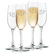 Personalized Toasting Flute Set Of 4 With Antler Initial, One Size