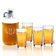 Personalized British Pint And Growler Set W Antler Initial, One Size