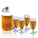 Personalized Cervoise And Growler Set With Antler Initial, One Size