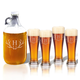 Personalized Tall Pilsner And Growler Set With Antler Initia, One Size