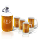 Personalized Tankard And Growler Set With Antler Initial, One Size
