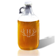 Personalized Growler With Antler Initial, One Size