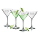 Personalized Martini Glass Set Of 4 With Antler Initial, One Size