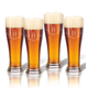 Personalized Tall Pilsner Glass Set Of 4 With Antler Initial, One Size