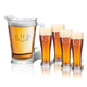 Personalized Tall Glass Pitcher & Pilsner W Antler Initial, One Size