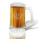Personalized Glass Tankard With Antler Initial, One Size