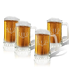 Personalized Glass Tankard Set Of 4 With Antler Initial, One Size