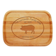 Personalized Large Cutting Board With Pork Design, One Size