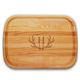Personalized Large Cutting Board With Antler Initial, One Size