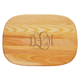 Personalized Medium Cutting Board With Scroll Monogram, One Size