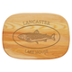 Personalized Medium Cutting Board With Trout Design, One Size