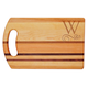 Personalized Striped Handle Cutting Board With Scroll Initia, One Size
