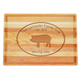 Personalized Large Block Cutting Board With Pork Design, One Size