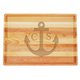 Personalized Large Block Cutting Board With Anchor Design, One Size