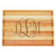 Personalized Large Block Cutting Board With Scroll Monogram, One Size
