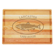 Personalized Large Block Cutting Board With Trout Design, One Size