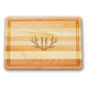 Personalized Medium Block Cutting Board With Antler Initial, One Size
