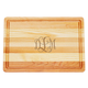 Personalized Medium Block Cutting Board With Scroll Monogram, One Size