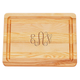 Personalized Small Block Cutting Board With Scroll Monogram, One Size