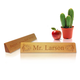 Personalized Teacher's Desk Name Plaque - Music Design, One Size
