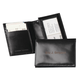 Personalized Leather Expandable Card Case - Black, One Size