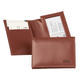 Personalized Leather Expandable Card Case - Brown, One Size
